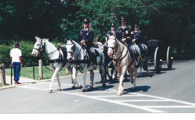 Funeral Procession at the National Cemetery