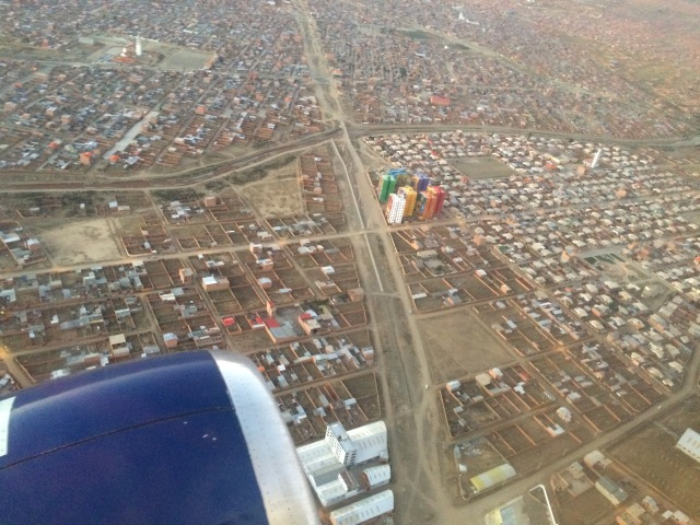 Flight into Cochabamba