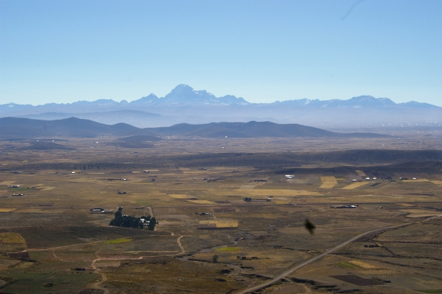 Andes Mountains across the Plain