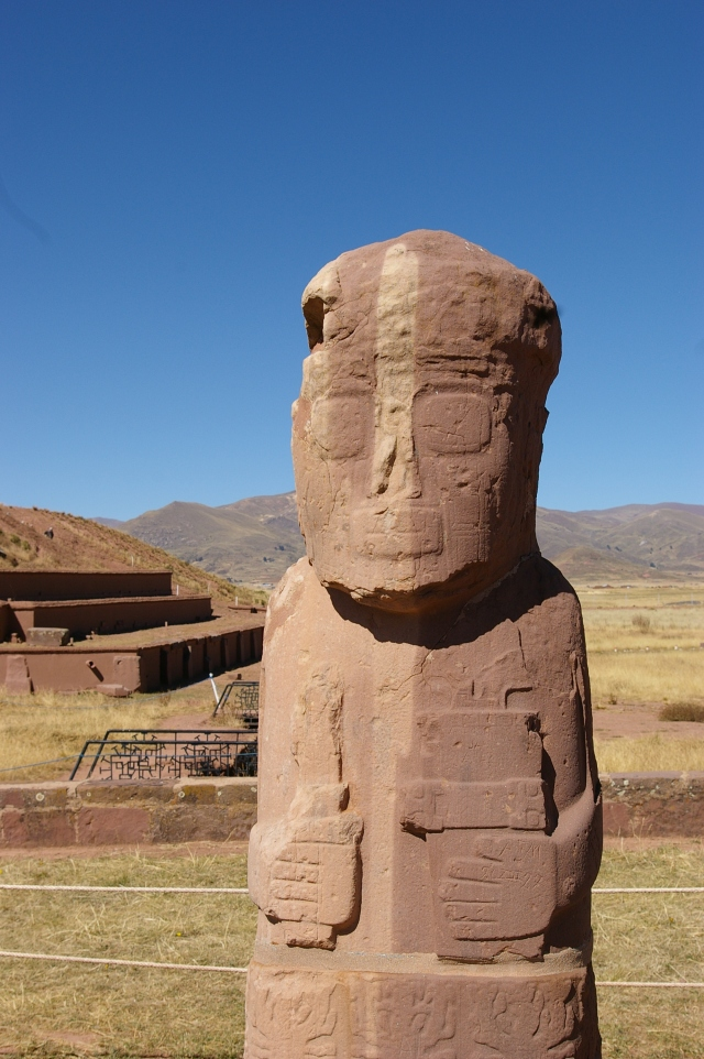 Statue at Tiwanaku