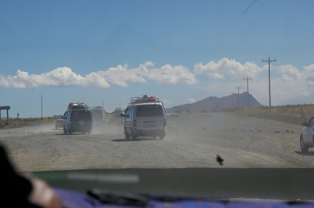 Traffic on the Road to Lake Titicaca