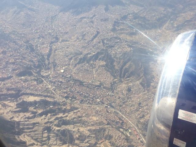 Flying into La Paz