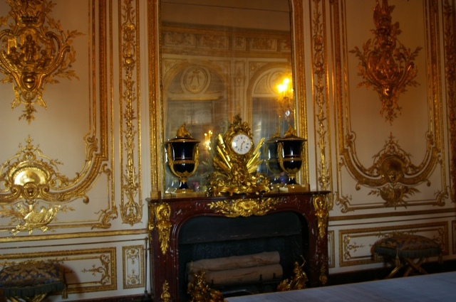 Bedroom at Versailles with Ornate Clock
