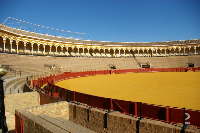 Bullfighting Ring in Seville, Spain