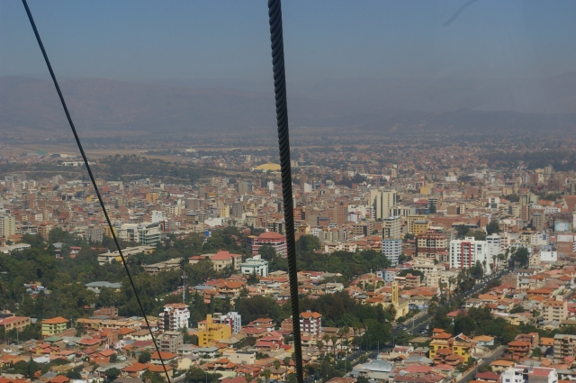 View of Cochabamba from the Cable Car