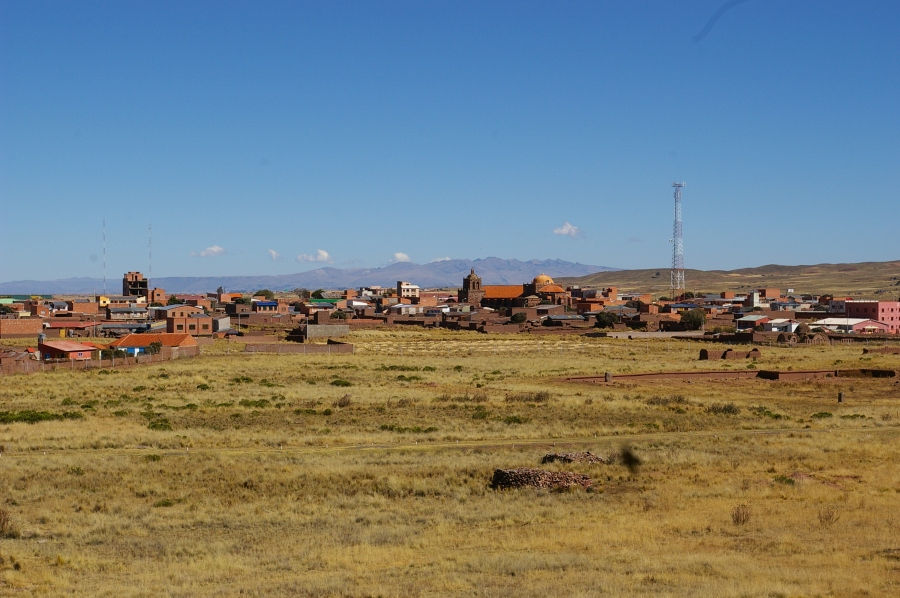 Local Village with Stones from Tiwanaku