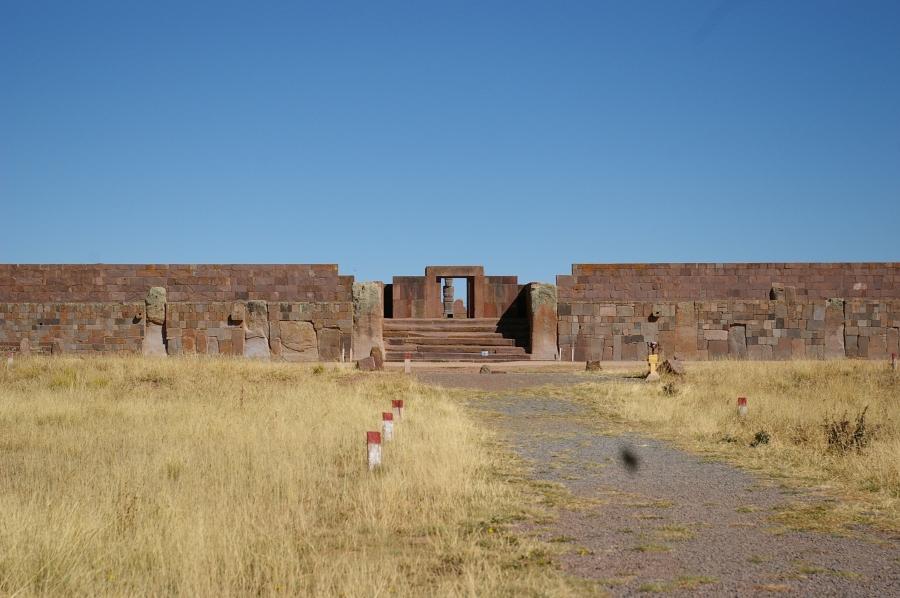 Entrance to the Akapana Pyramid