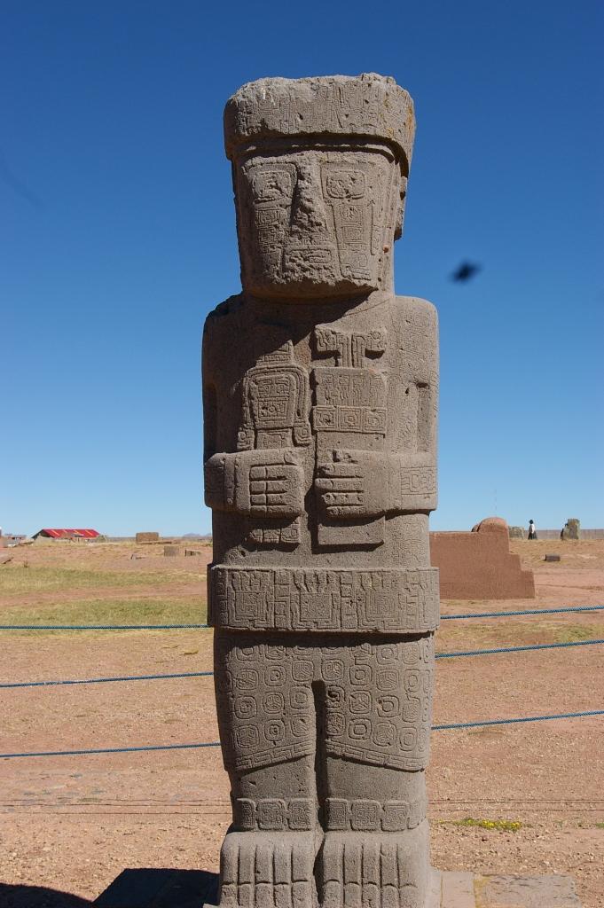 Statue at the Center of the Akapana Pyramid