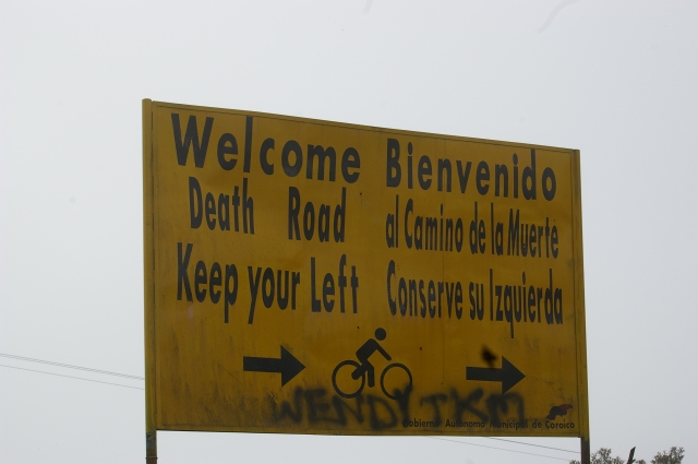 Sign at the Start of Death Road