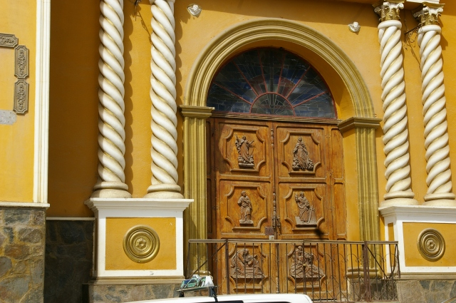Church Doors in Coroico