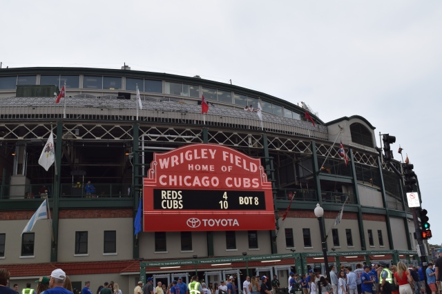 Iconic View of Wrigley Field