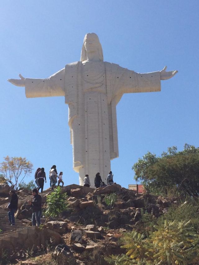 Climbing to the Christo de la Concordia