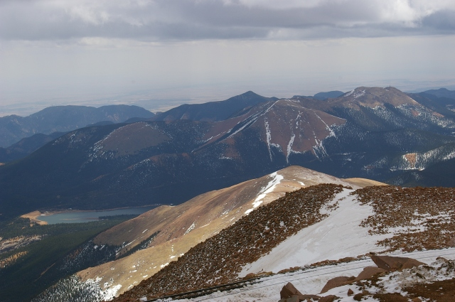 The View from Pikes Peak with the Tracks in the Foreground