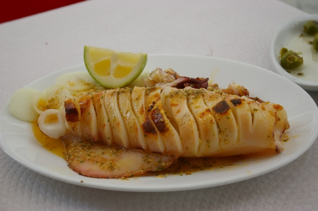 Delicious Squid in Estepona