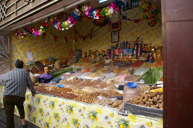 Market Stall with Plenty of Nuts