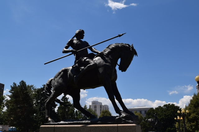 """On the War Trail"" Statue"