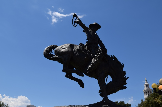"""Broncho Buster"" Statue (that is spelled correctly)"