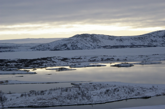 Sunrise over Lake Thingvallavatn