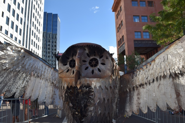 Giant Owl Statue