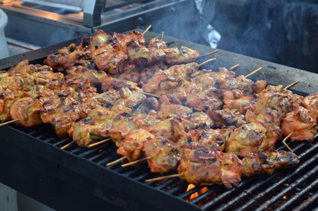 Chicken Satay on the Grill