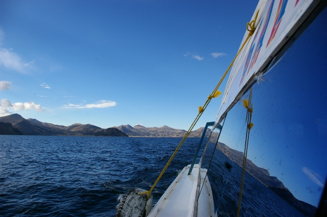 Cruising on Lake Titicaca