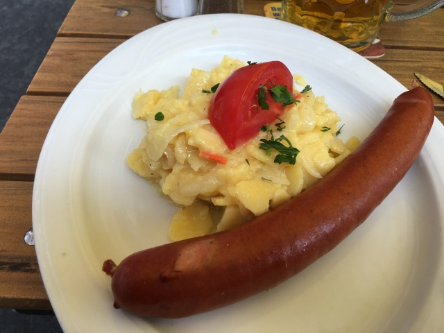 Rindwurst - Beef Sausage with Potato Salad