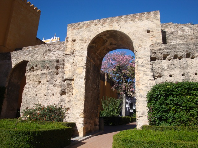 Entrance to Garden in Alhambra, Spain