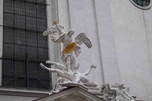Michael vs Lucifer Statue
