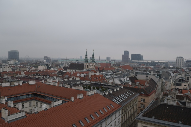 Looking out towards Vienna