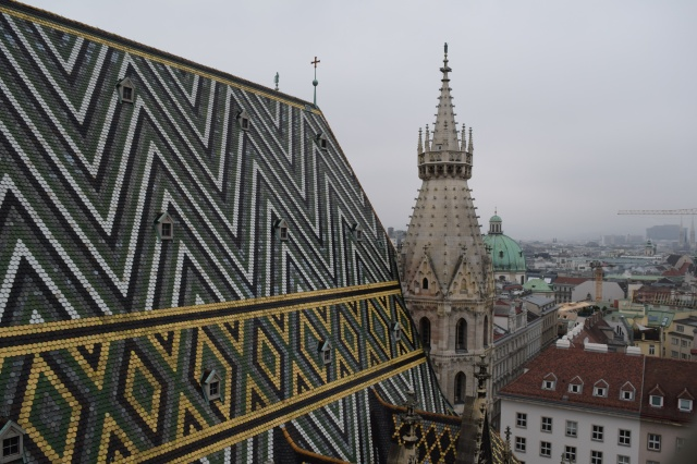 Close Up View of the Roof of the Church