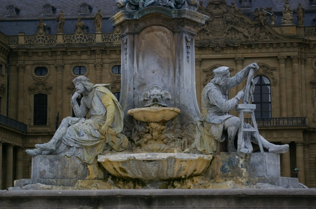 Fountain Sculptures at the Residenz