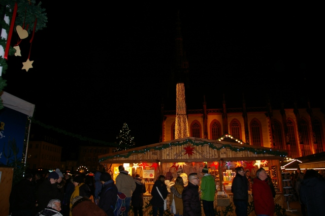 Cathedral and Christmas Market at Night