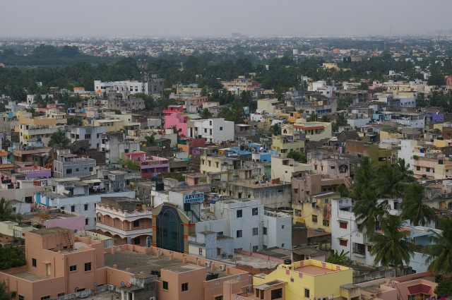 Looking out over Chennai