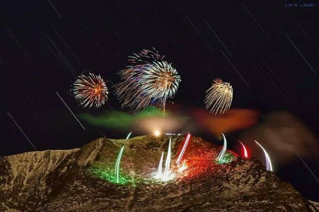 Picture of New Year's Eve Fireworks - Source Unknown, But Not Our Photograph