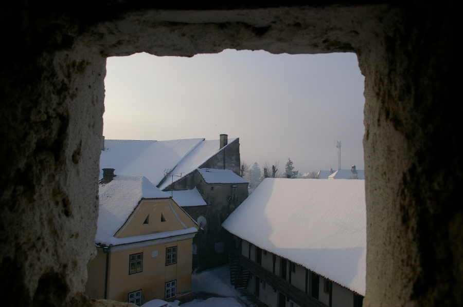 A View from inside a Fortress Church in Romania